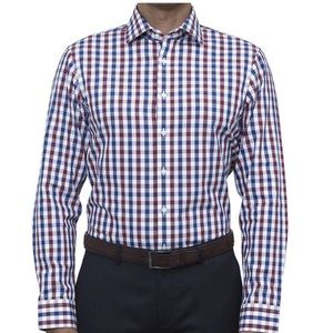 J. Crew | Slim Fit Red, White Blue Check Shirt L